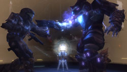 ODST rookie battling a Covenant enemy in ''Halo 3: ODST''