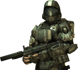 ODST rookie in full gear from ''Halo 3: ODST''