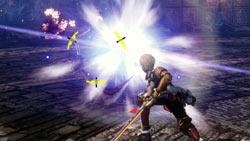 Edge Maverick in combat in 'Star Ocean: The Last Hope'