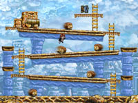 Time reverse abilities during platforming in Braid