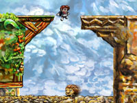 Traditional 2D platforming in Braid