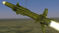 Surface to air missle from 'DCS: Black Shark'