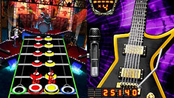 Gameplay screen from 'Guitar Hero: On Tour Modern Hits'
