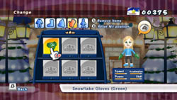 Mii customization in Mario & Sonic at the Olympic Winter Games for Wii
