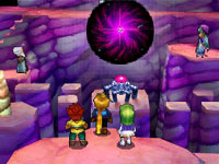Using elemental powers to solve a navigational puzzle problem in Golden Sun: Dark Dawn