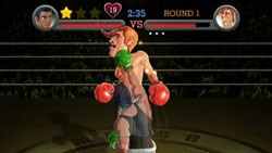 Star punch against Glass Joe in 'Punch-Out!!'