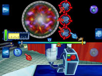 Multiplayer gameplay screen in 'Science Papa' for Wii