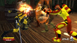 Group combat in 'Champions Online'