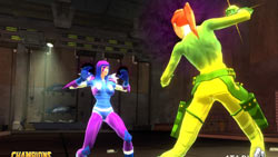 One-on-one combat in 'Champions Online'
