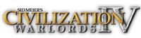 &#39Sid Meier&#39s Civilization IV: Warlords&#39 expansion pack game logo