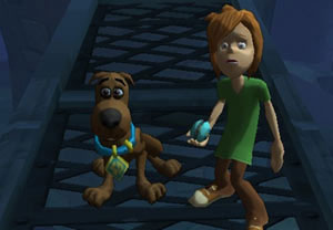 A young Scooby and Shaggy combo in 'Scooby-Doo! First Frights' for Wii