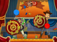 All your favorite Toy Story characters in 'Toy Story Mania!'