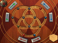 A complicated rotating puzzle from Safecracker: The Ultimate Puzzle Adventure