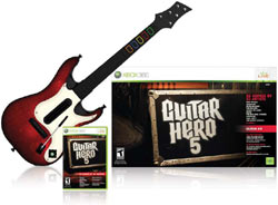 Game bundled with improved guitar in ''Guitar Hero 5''