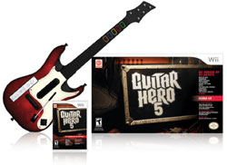 Game bundled with new Guitar Hero guitar in 'Guitar Hero 5'