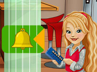 Carly's best friend Sam demonstrating a bell ringing feature in 'iCarly' for DS / DSi