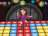 Carly on the dance floor in 'iCarly' for DS / DSi