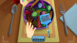 Food serving mini-game in 'iCarly' for Wii