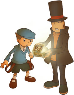 Luke and Professor Layton from 'Professor Layton and the Diabolical Box'