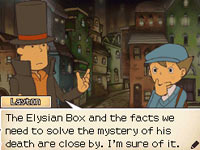 Dialog between Layton and Luke concerning the Elysian Box from ''Professor Layton and the Diabolical Box''