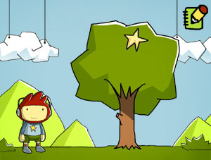 Maxwell with a Starite in a tree in ''Scribblenauts''