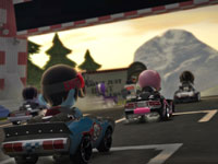 Racers waiting for a race to start in ModNation Racers