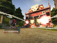 Kart weapons fired from multiple locations in ModNation Racers