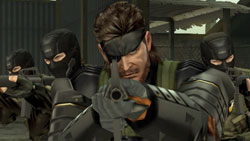 Battle Snake flanked by his crew in Metal Gear Solid Peace Walker