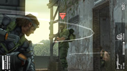 Two player co-op screen from Metal Gear Solid Peace Walker
