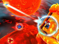 Mario in space in Super Mario Galaxy 2