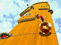 The sawblade filled Puzzle Plank Galaxy in Super Mario Galaxy 2