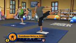 Bob Harper leading exercises on the Wii Balance Board in The Biggest Loser for Wii
