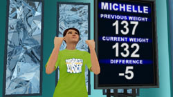 Playing as former TV show contestant Michelle in The Biggest Loser for Wii