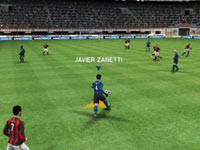 Creating in the open field as the ultra versitile Argentine superstar Javier Zanetti in Pro Evolution Soccer 2011 3D