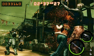 Resident Evil: Mercenaries 3D gameplay screen