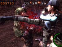 Resident Evil: Mercenaries 3D screen gameplay screen