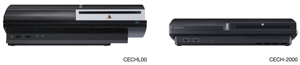 The horizontal height of previous PS3 models compared to the smaller of PlayStation 3 120GB system
