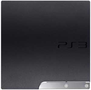 The PlayStation 3 120GB system''s textured finish