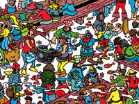Classic Where's Waldo puzzle-solving in Where's Waldo?: The Fantastic Journey for DS and DSi