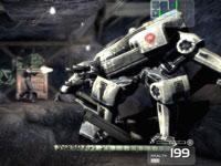 Battling a mech in Shadow Complex