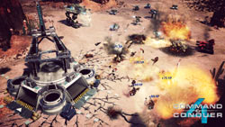 Battle with experience points assigned to units detailed in Command & Conquer 4: Tiberian Twilight