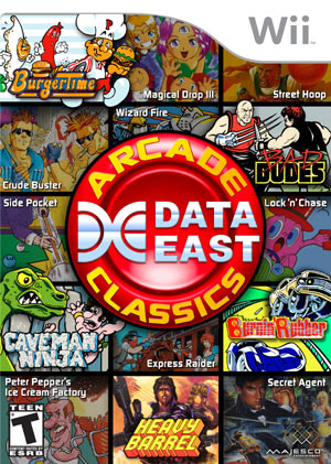 B002X36HPO.box.300 Review: Data East Arcade Classics   Wii