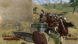 Commanding a Swadian infantry unit in Mount & Blade: Warband