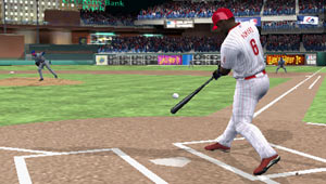 Ryan Howard swinging for the fence in Philidelphia in MLB 10: The Show