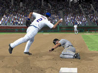 Turning a double play at second in MLB 10: The Show