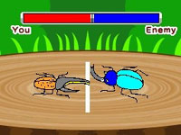 A beetle mini-game in Let's Draw!
