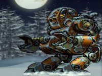 The Slug Gigantus weaponized vehicle from Metal Slug XX