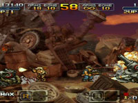 Multiplayer co-op gameplay screen from Metal Slug XX