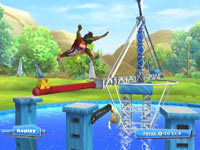 One of 50+ insane obstacle courses from Wipeout: the Game