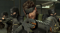 Battle Snake flanked by his crew in Metal Gear Solid: Peace Walker